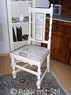 Gründerzeit-Stuhl im Vintage-Look restauriert